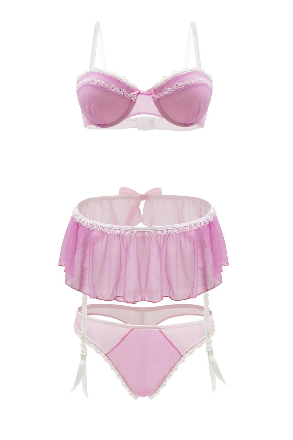 Pink Lady 3 Piece Set - Strawberry Cream - 3x4x