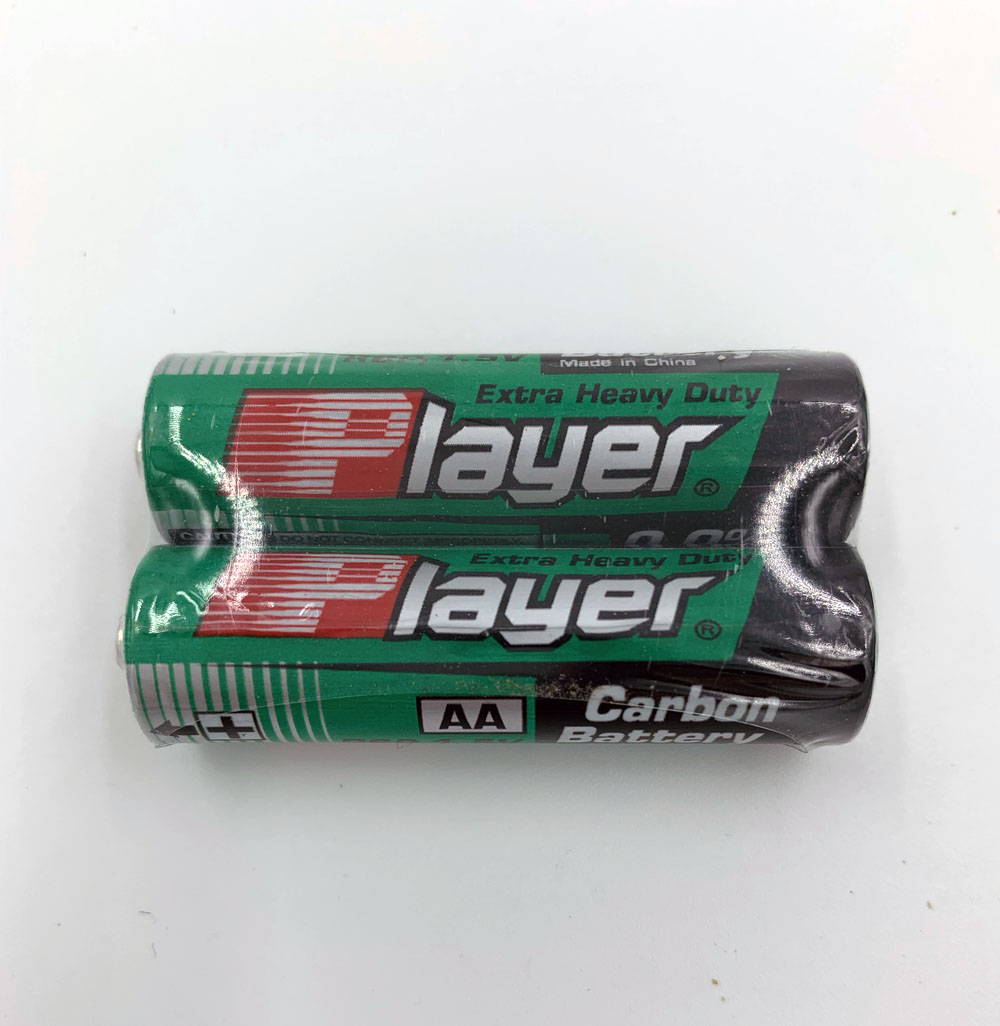 Player Extra Heavy Duty AA Batteries - 2 Pack