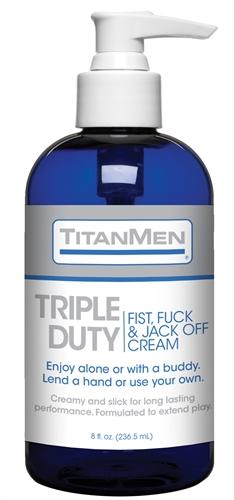 Titanmen Triple Duty Fist, Fuck and Jack Off Cream - Bulk - 8 Fl. Oz.